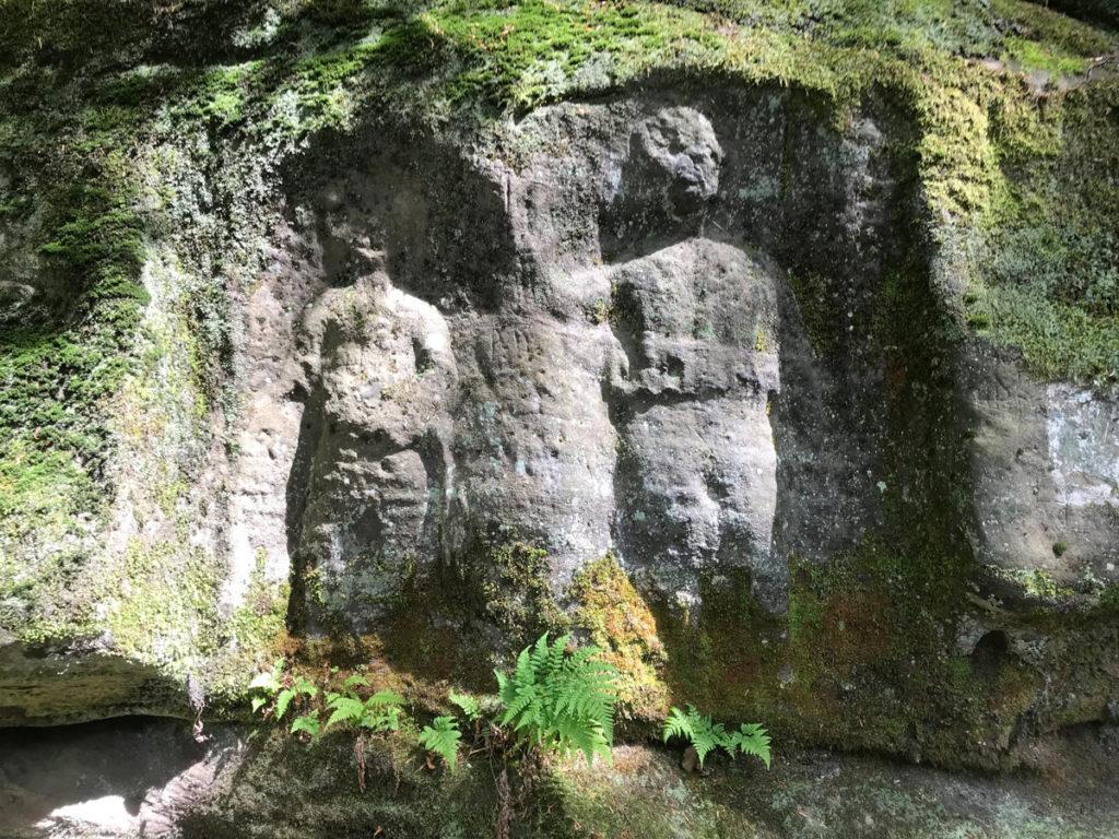 Felsenrelief Hänsel und Gretel - saarLANDlauf Etappe 2 St. Ingbert - Bebelsheim